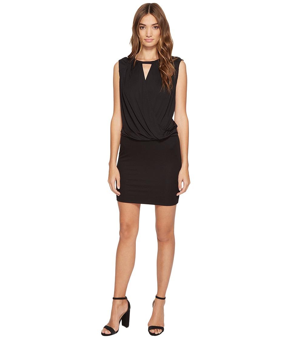 Lanston - Surplice Tank Dress (Black) Women's Dress