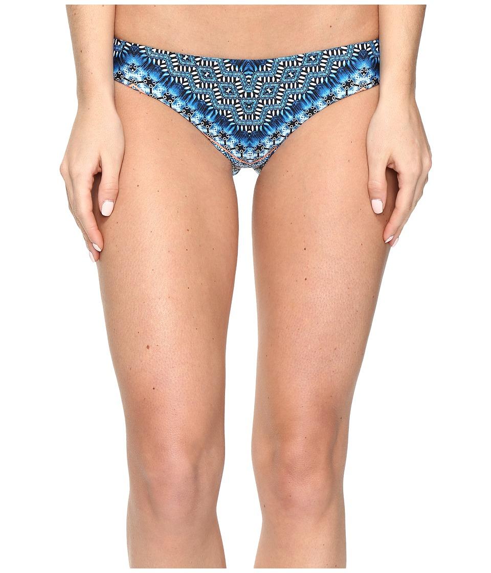 Lucky Brand - Nomad Chevron Reverse Cheeky Hipster Bottom (Indigo) Women's Swimwear