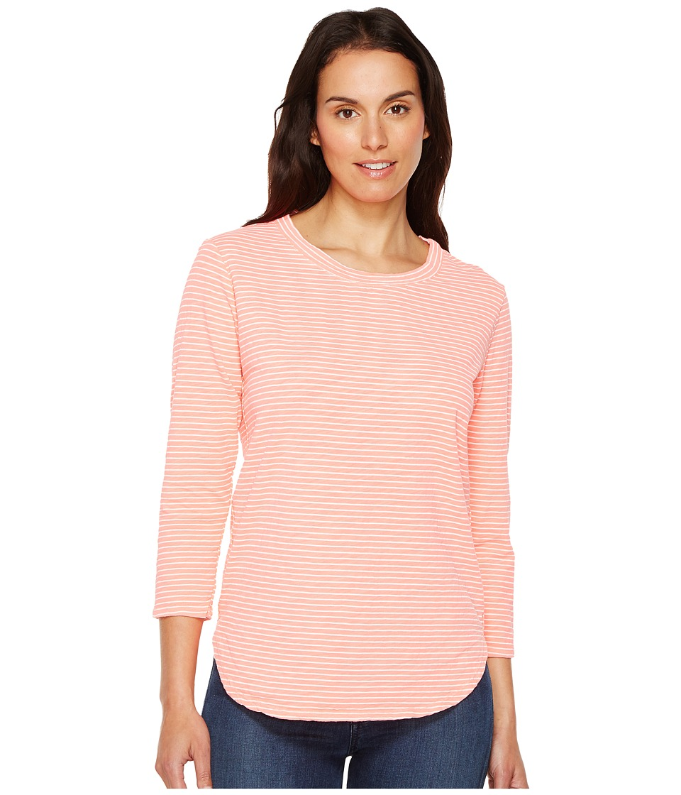 Fresh Produce Pinstripe Catalina Top (Sunset Coral) Women's Clothing