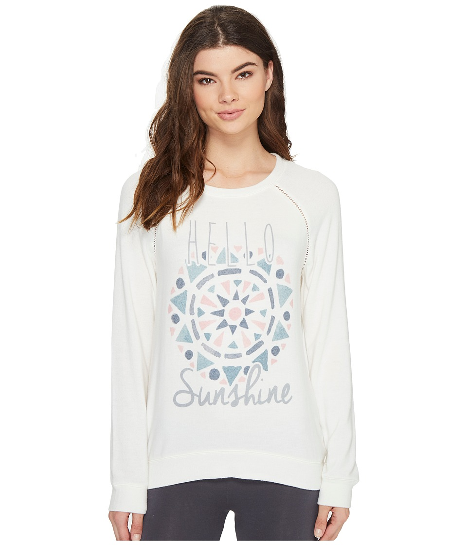P.J. Salvage - Hello Sunshine Novelty Sweater (Natural) Women's Sweater
