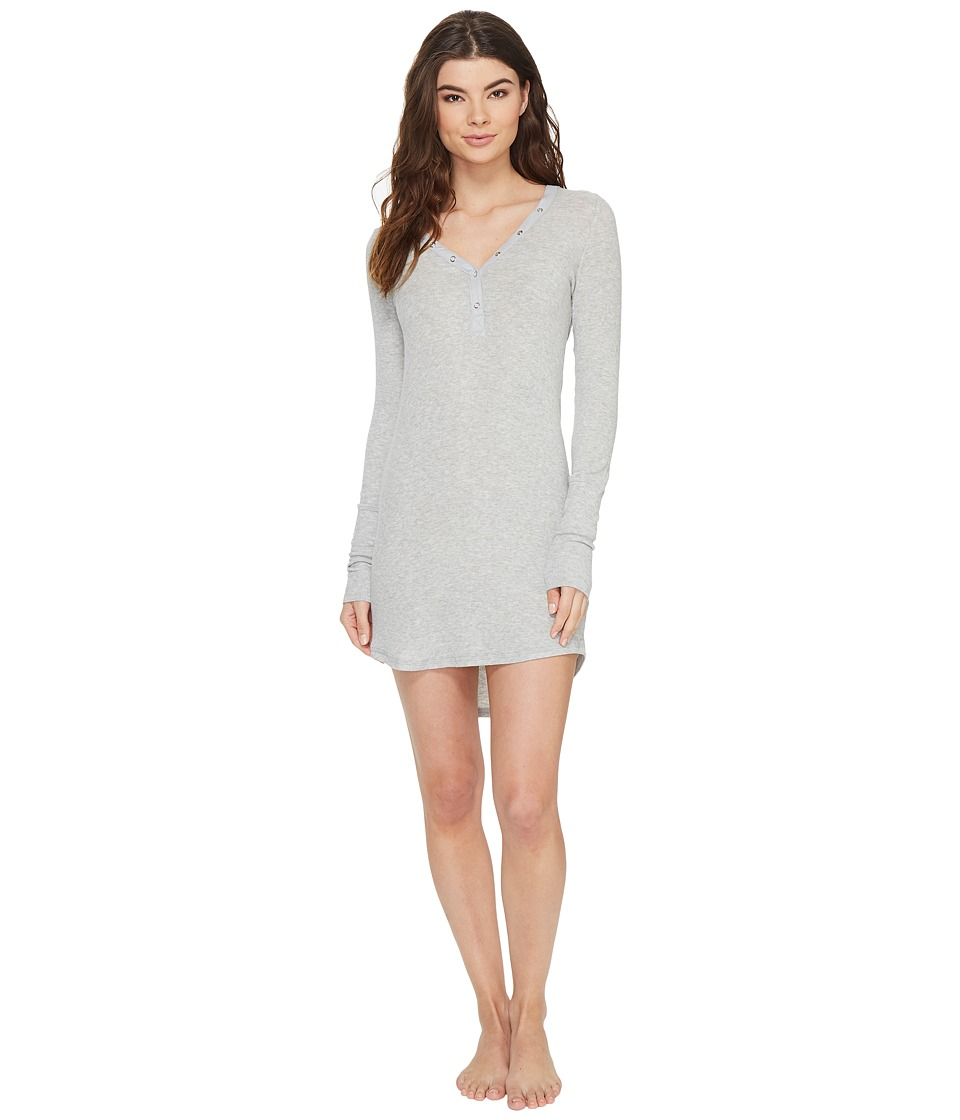 P.J. Salvage - Just Peachy Ribbed Nightshirt (Heather Grey) Women's Pajama