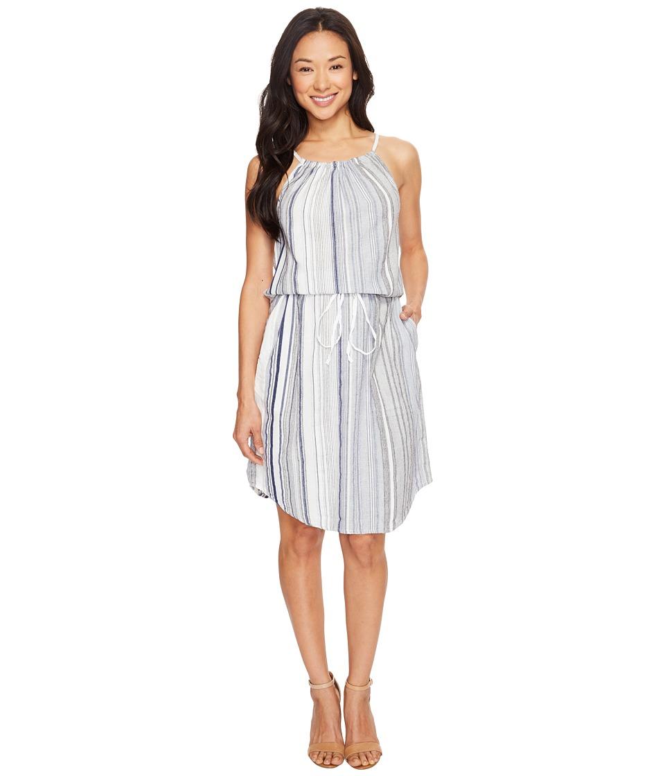 Dylan by True Grit Coast Stripes Strappy Dress (Blue) Women