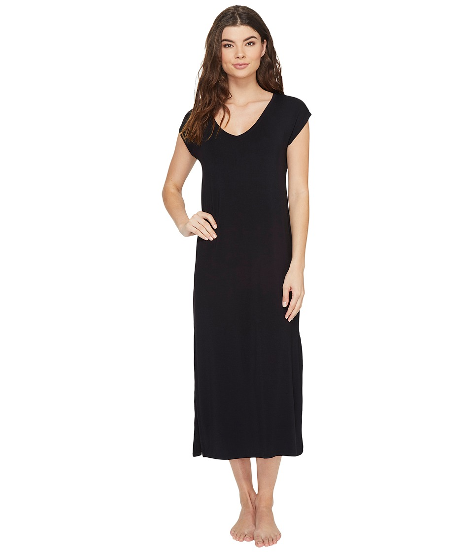 P.J. Salvage - Modal Short Sleeve Gown (Black) Women's Pajama