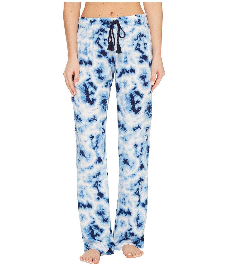 P.J. Salvage - Blue Batik Tie-Dye Lounge Pants (Navy) Women's Casual Pants