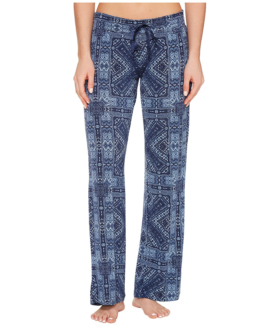 P.J. Salvage - Blue Batik Paisley Lounge Pants (Navy) Women's Casual Pants