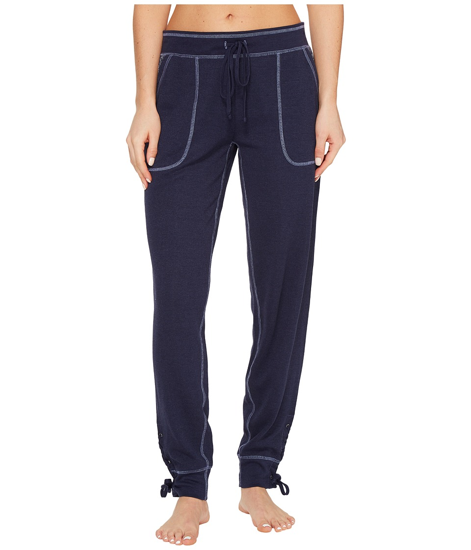 P.J. Salvage - Blue Batik Joggers (Navy) Women's Casual Pants