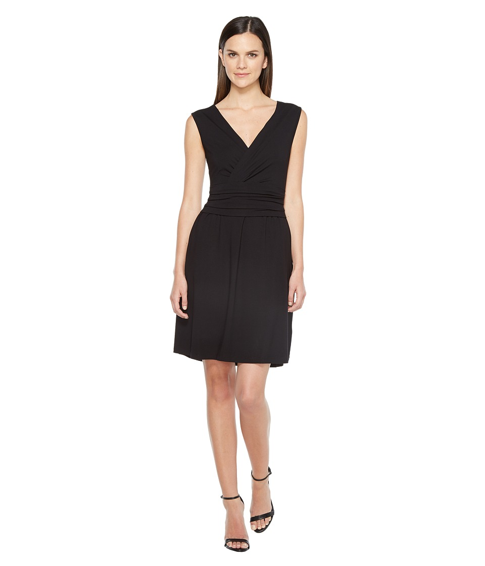 Lilla P - Shirred Waist Dress (Black) Women's Dress