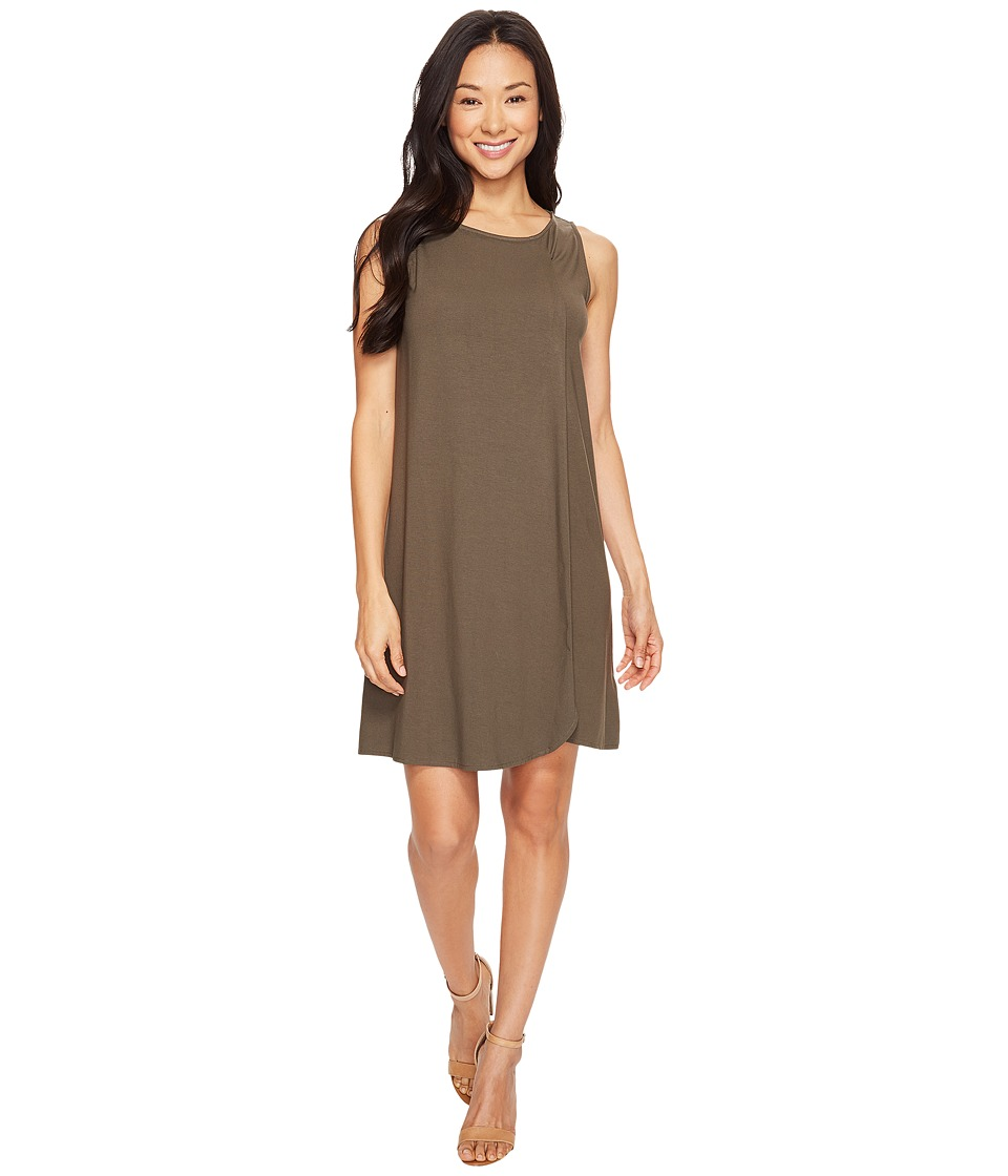 Lilla P Draped Front Dress (Moss) Women