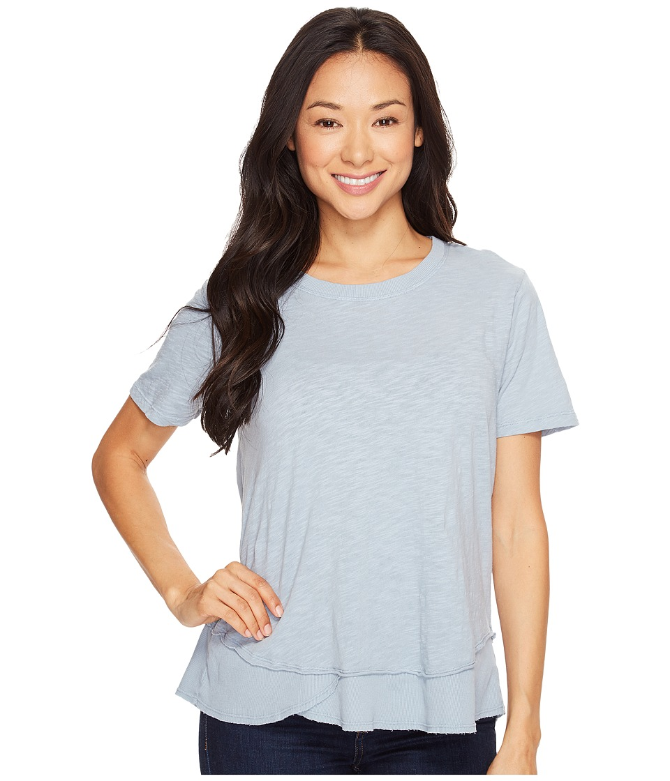Dylan by True Grit - Crew Neck Short Sleeve Tee (Denim Blue) Women's Short Sleeve Pullover