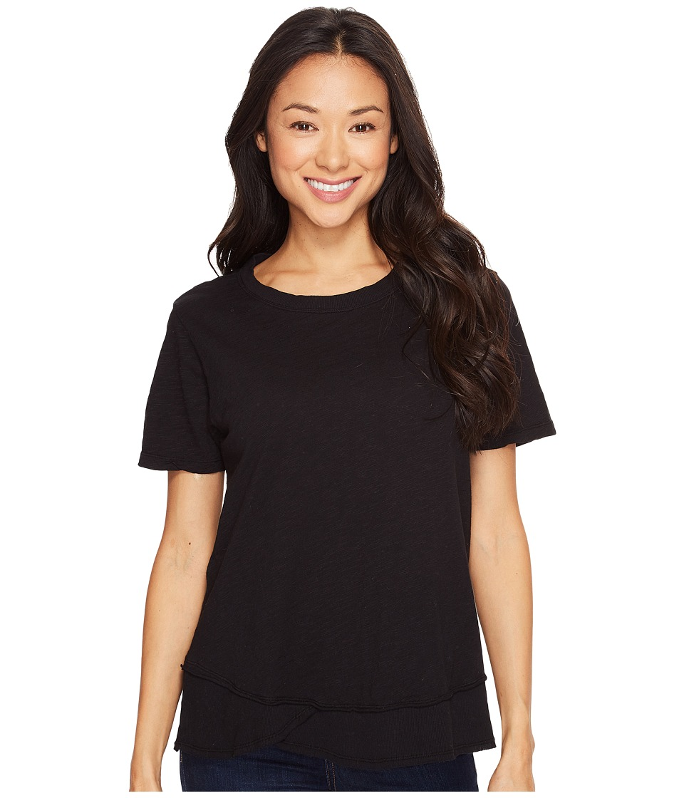 Dylan by True Grit - Crew Neck Short Sleeve Tee (Black) Women's Short Sleeve Pullover