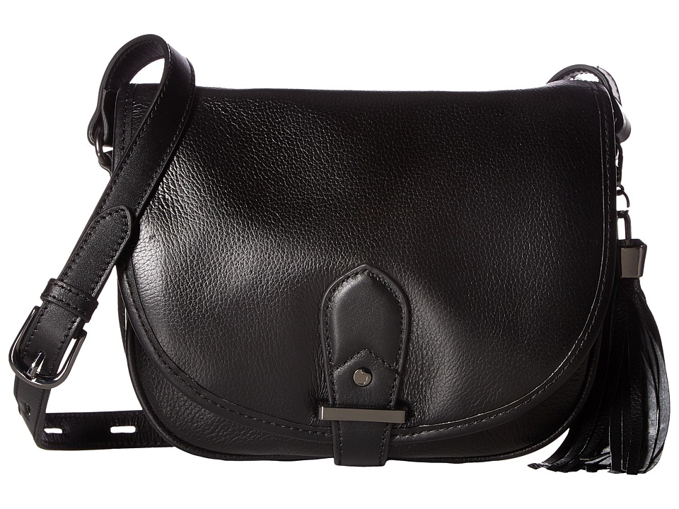 Joe's Jeans - Berkely Large Saddle Bag (Black) Shoulder Handbags