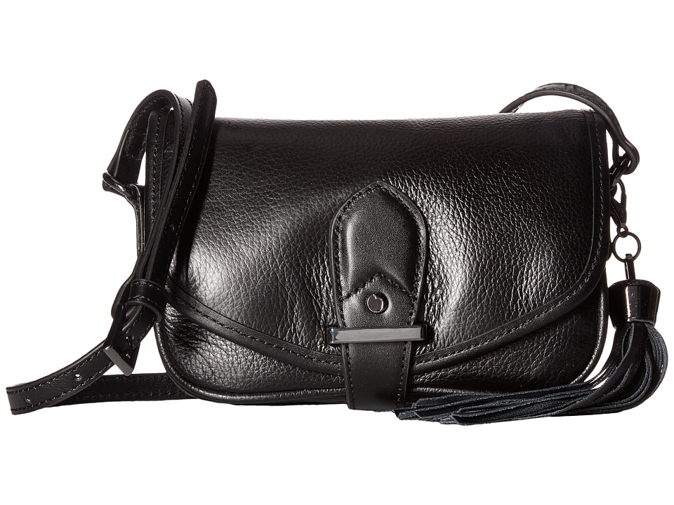Joe's Jeans - Berkely Small Saddle Bag (Black) Shoulder Handbags