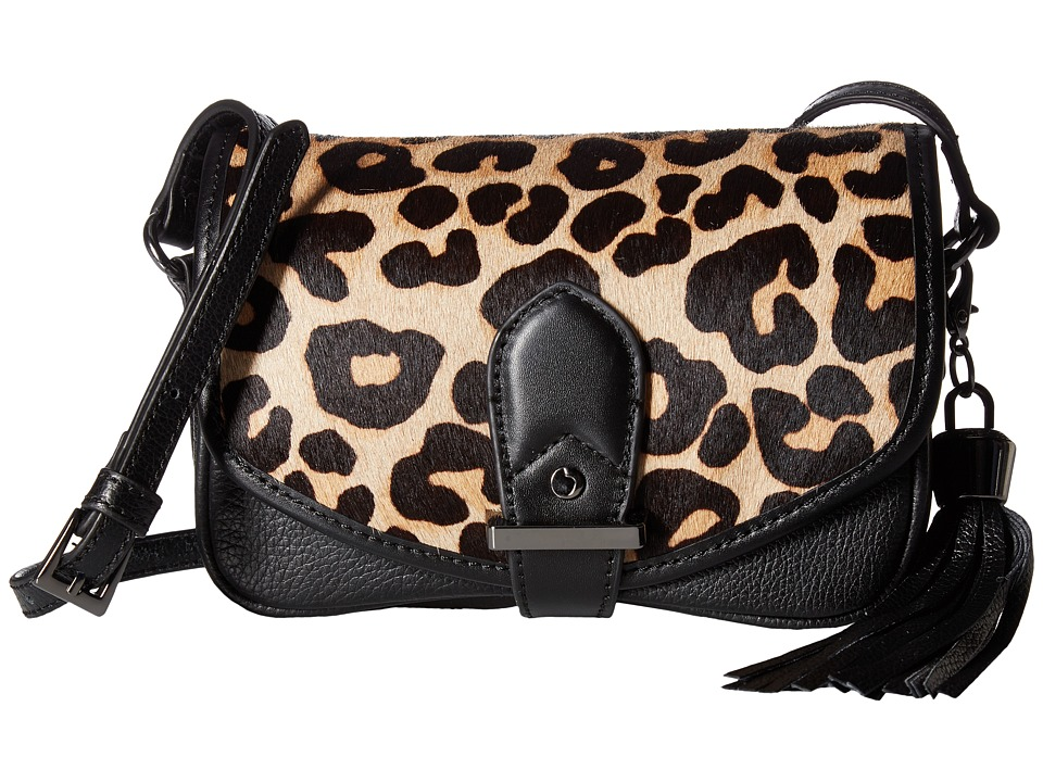 Joe's Jeans - Berkely Small Saddle Bag (Leopard Haircalf/Black) Shoulder Handbags