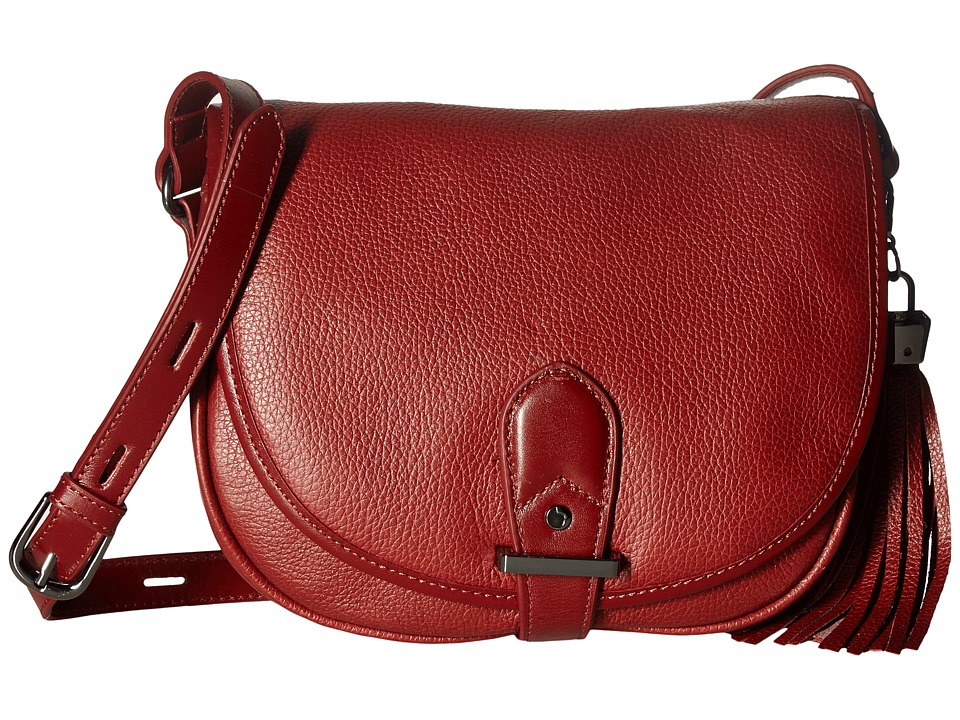 Joe's Jeans - Berkely Large Saddle Bag (Oxblood) Shoulder Handbags