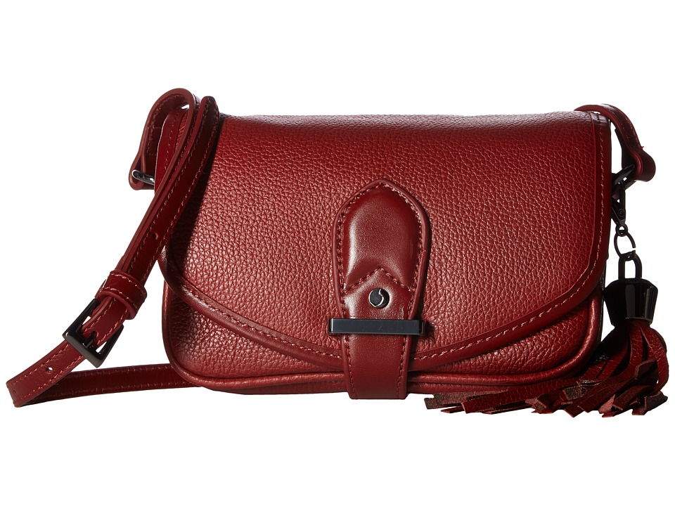 Joe's Jeans - Berkely Small Saddle Bag (Oxblood) Shoulder Handbags
