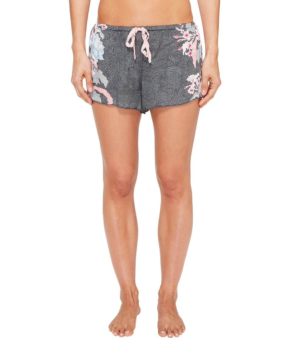 P.J. Salvage - Floral PJ Shorts (Grey) Women's Shorts
