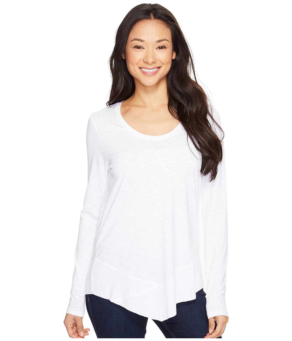 Lilla P - Long Sleeve Scoop Neck (White) Women's Clothing