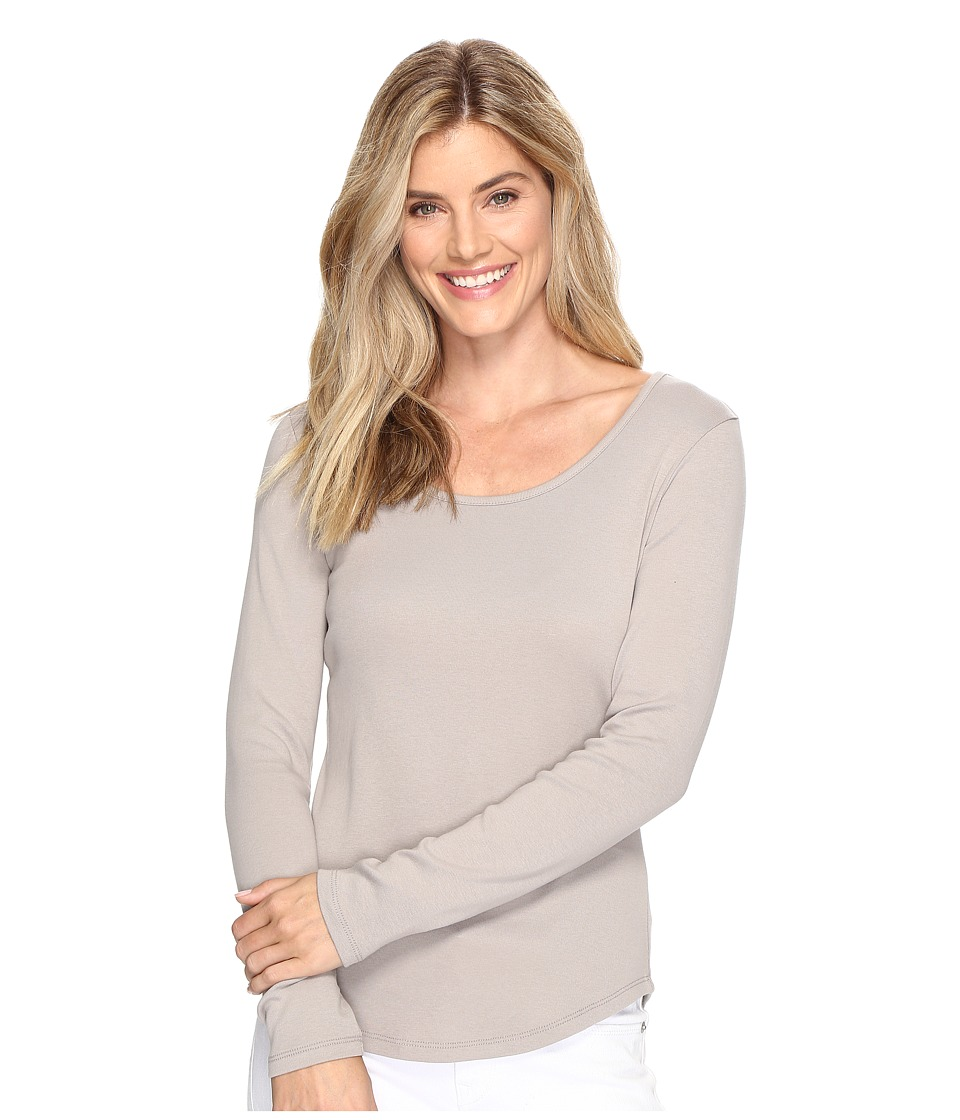 Lilla P - Long Sleeve Scoop Neck (Twig) Women's Clothing