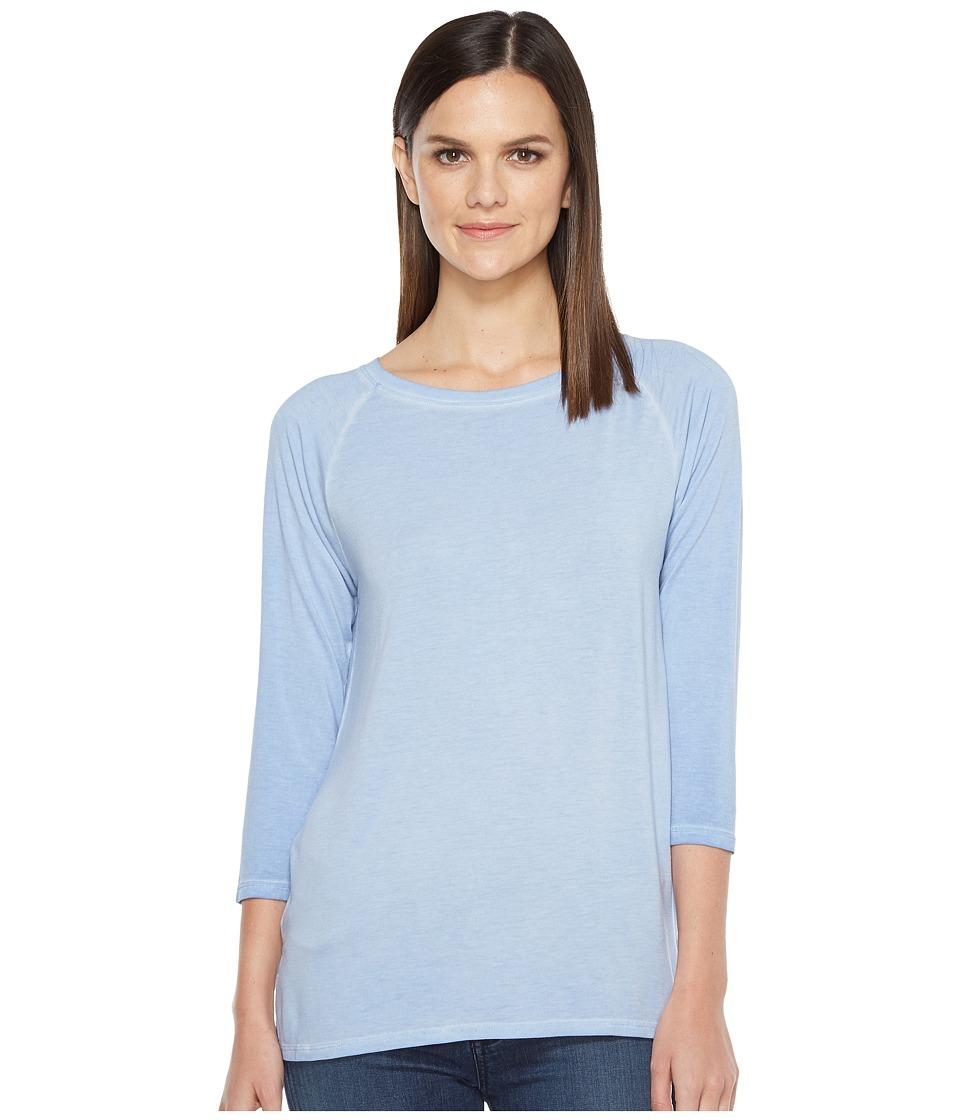 Lilla P - 3/4 Sleeve Boat Neck (Blue Sky) Women's Clothing