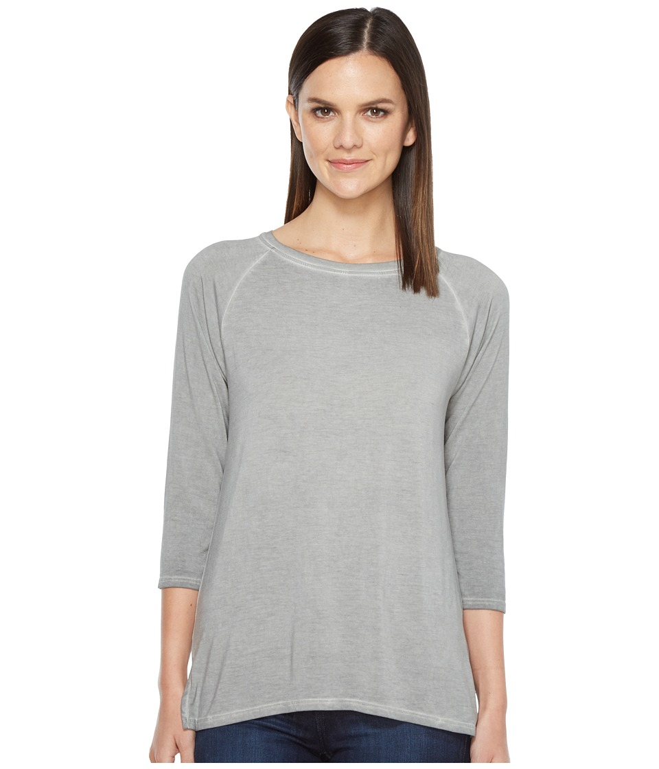 Lilla P - 3/4 Sleeve Boat Neck (Cement) Women's Clothing