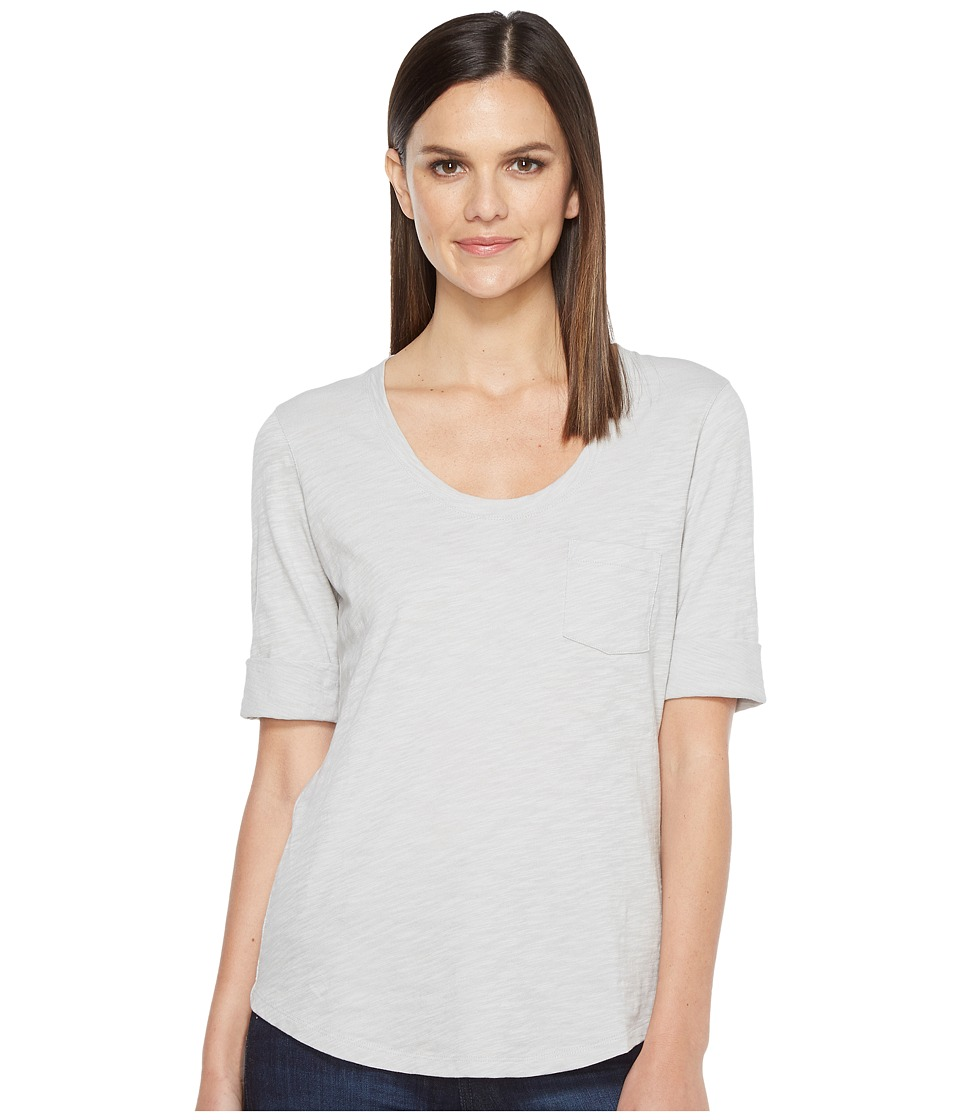 Lilla P - Elbow Sleeve Scoop Neck (Grey Mist) Women's Clothing