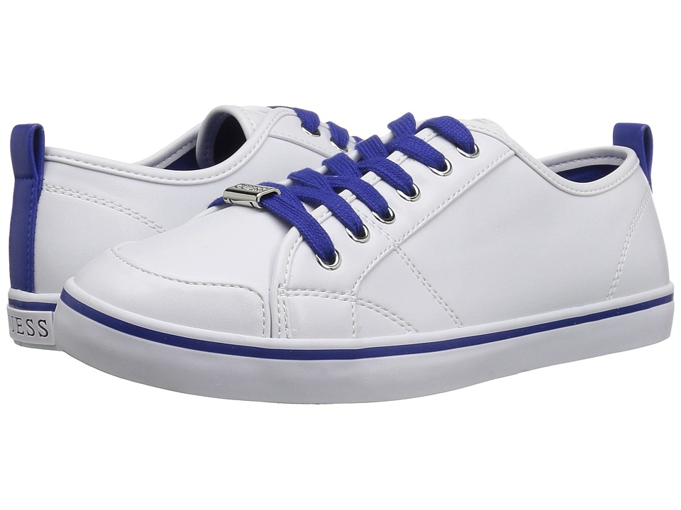 GUESS - Aire (White/Blue) Women's Lace up casual Shoes