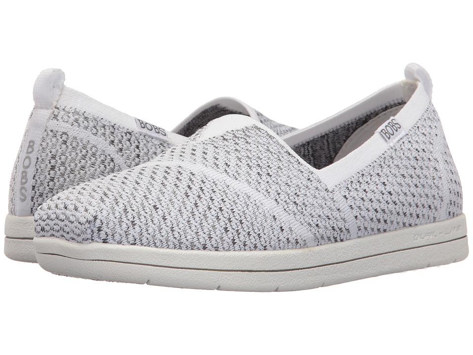 BOBS from SKECHERS - Super Plush (White/Black 1) Women's Slip on Shoes