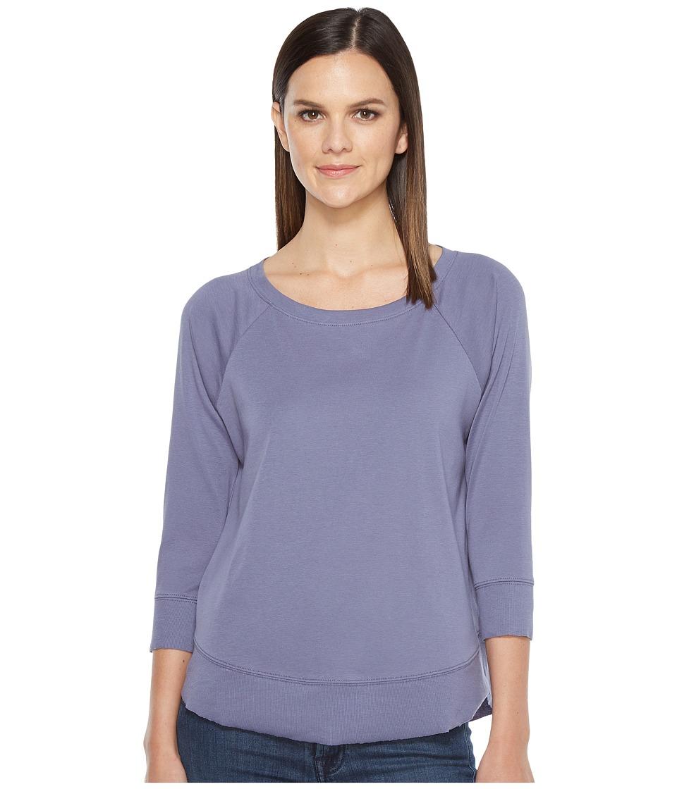 Lilla P - 3/4 Sleeve Curved Hem Tee (Heron) Women's T Shirt