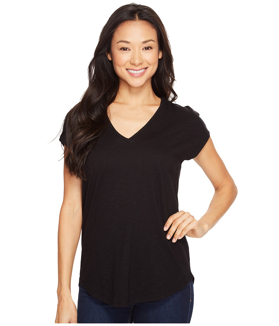 Lilla P - Easy V-Neck Tee (Black) Women's T Shirt