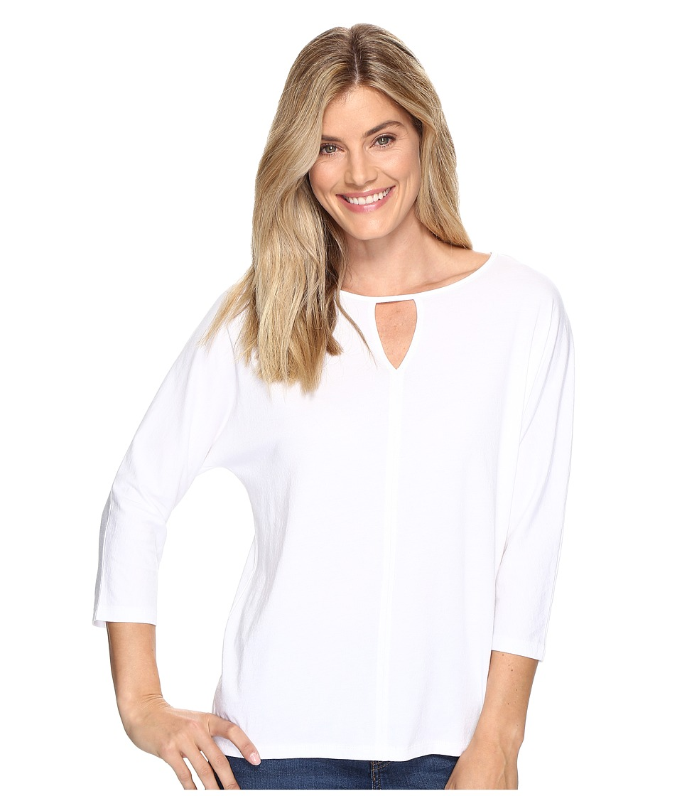 Lilla P - 3/4 Sleeve Seamed Dolman (White) Women's Sweater