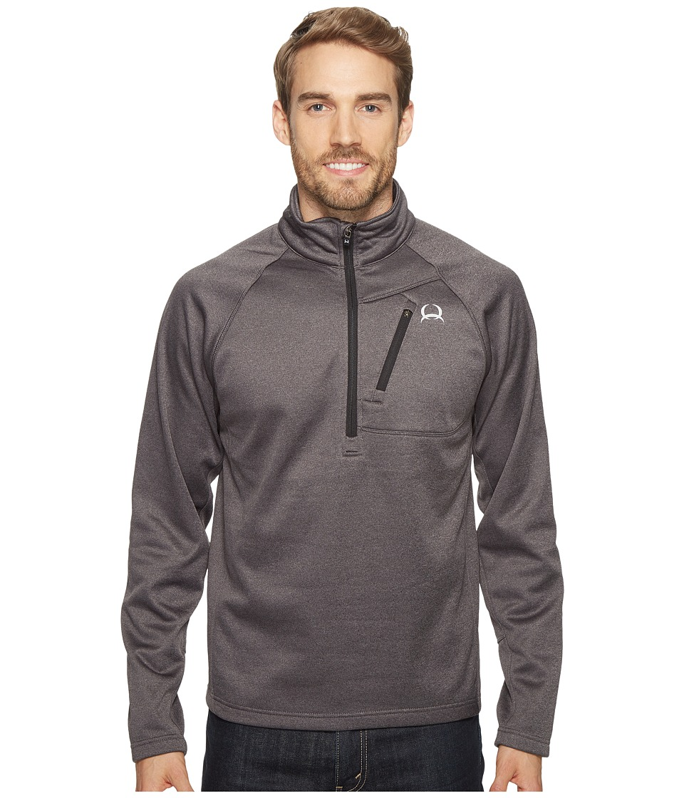 Cinch - Raglan Tech 1/4 Zip Pullover (Heathered Charcoal) Men's Long Sleeve Pullover