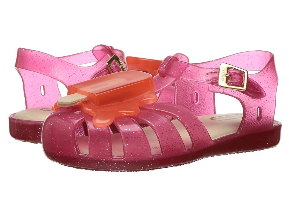 Mini Melissa - Aranha VIII (Toddler) (Pink/Orange) Girl's Shoes
