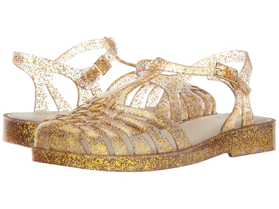 Mini Melissa - Mel Aranha Quadrada (Little Kid/Big Kid) (Gold/Silver Glitter) Girl's Shoes