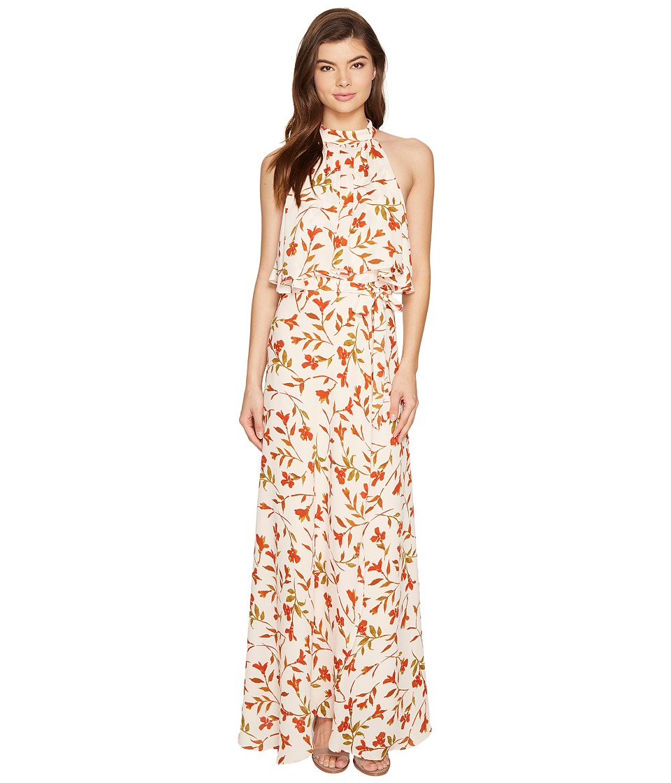 Lovers + Friends Golden Ray Maxi Palm Dress