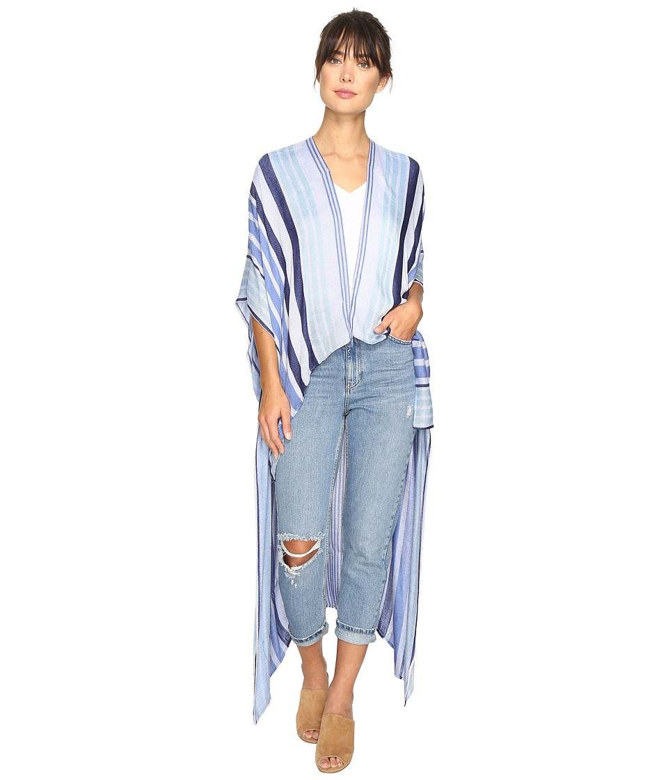 BCBGeneration - Seaside Stripe High-Low (Hazy Blue) Women's Clothing