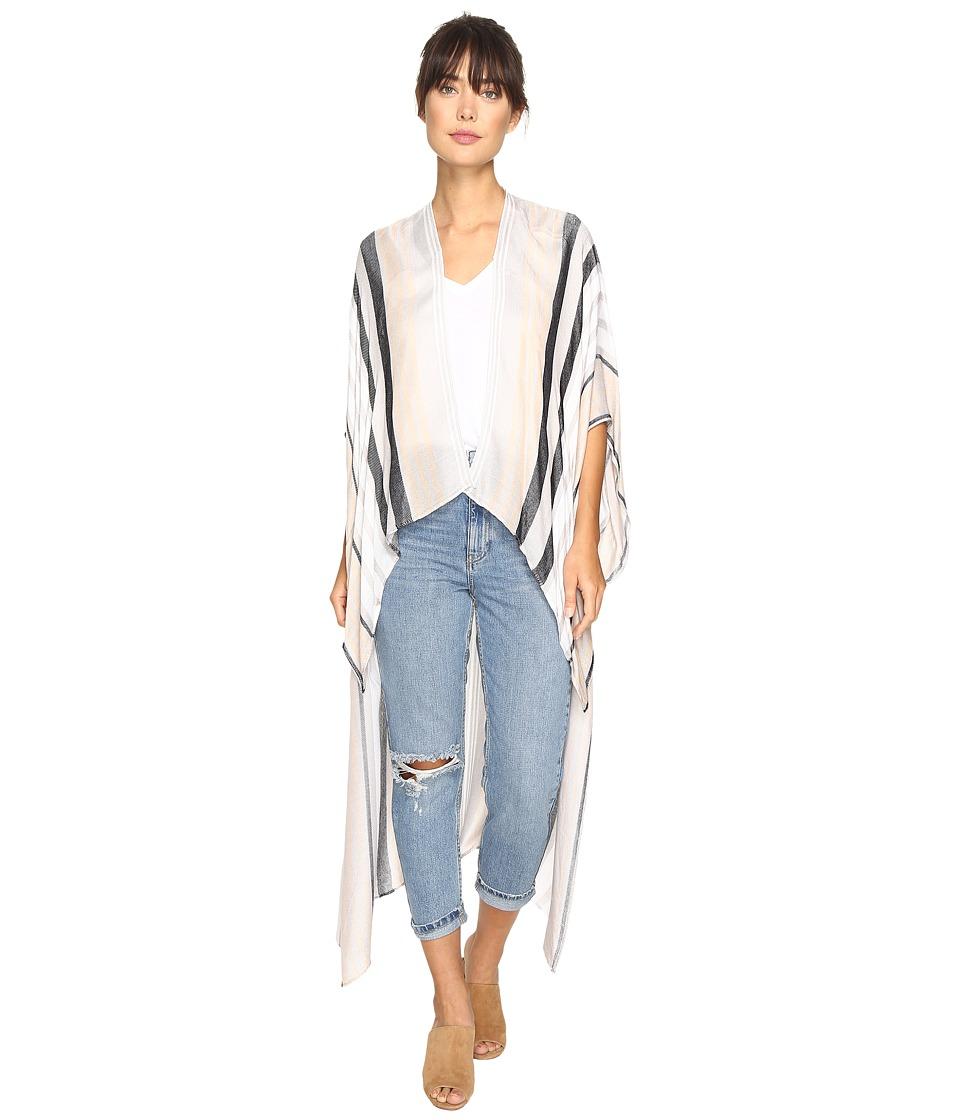 BCBGeneration - Seaside Stripe High-Low (Black) Women's Clothing