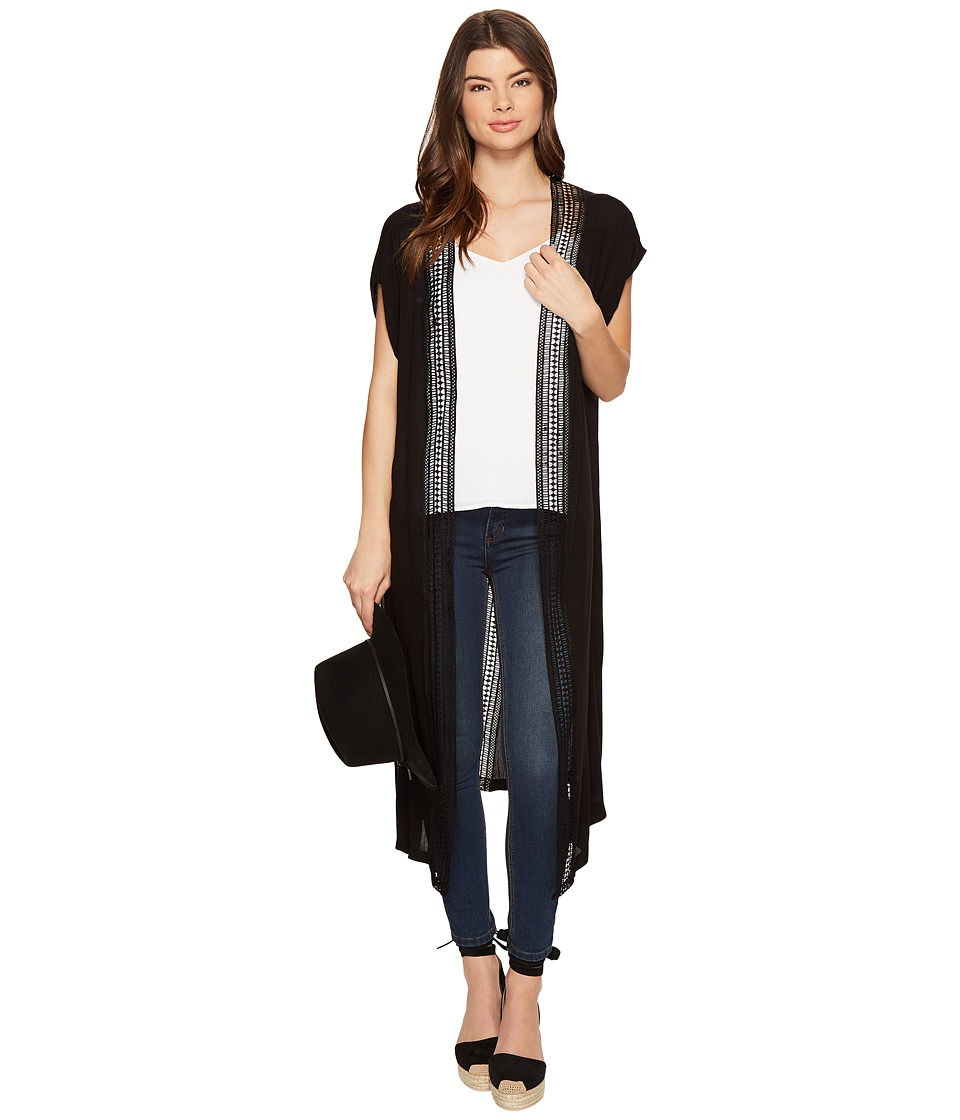 BCBGeneration - Breezy Way Duster (Black) Women's Clothing