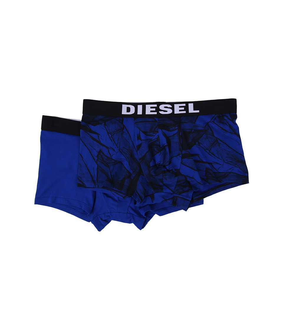 Diesel - Seasonal Print Damien 2-Pack Trunk AAOI (Blue Print/Blue Solid) Men's Underwear
