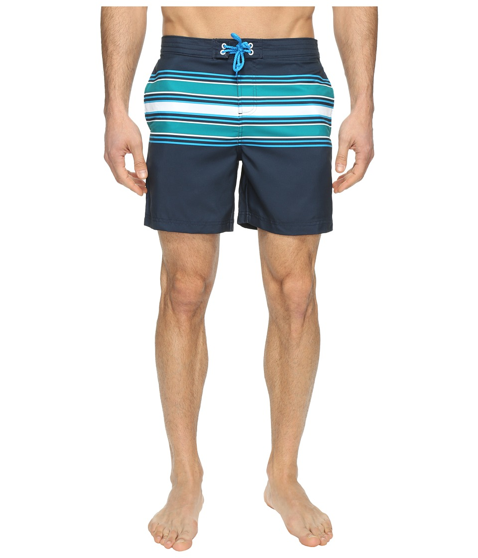Original Penguin - Engineered Stripe Swim (Deep Lake) Men's Swimwear