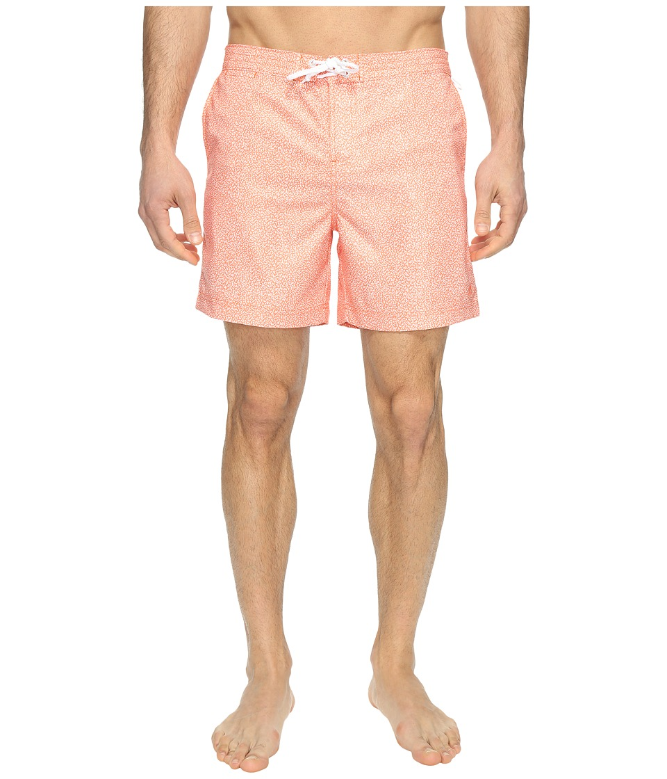 Original Penguin - Stretch Floral Fixed (Persimmon) Men's Swimwear
