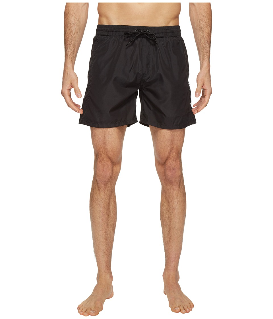 Diesel Wave FoldGo Quick Dry Light Microfiber 6 in Swim Shorts w/ Diesel Logo KAKV (Black) Men