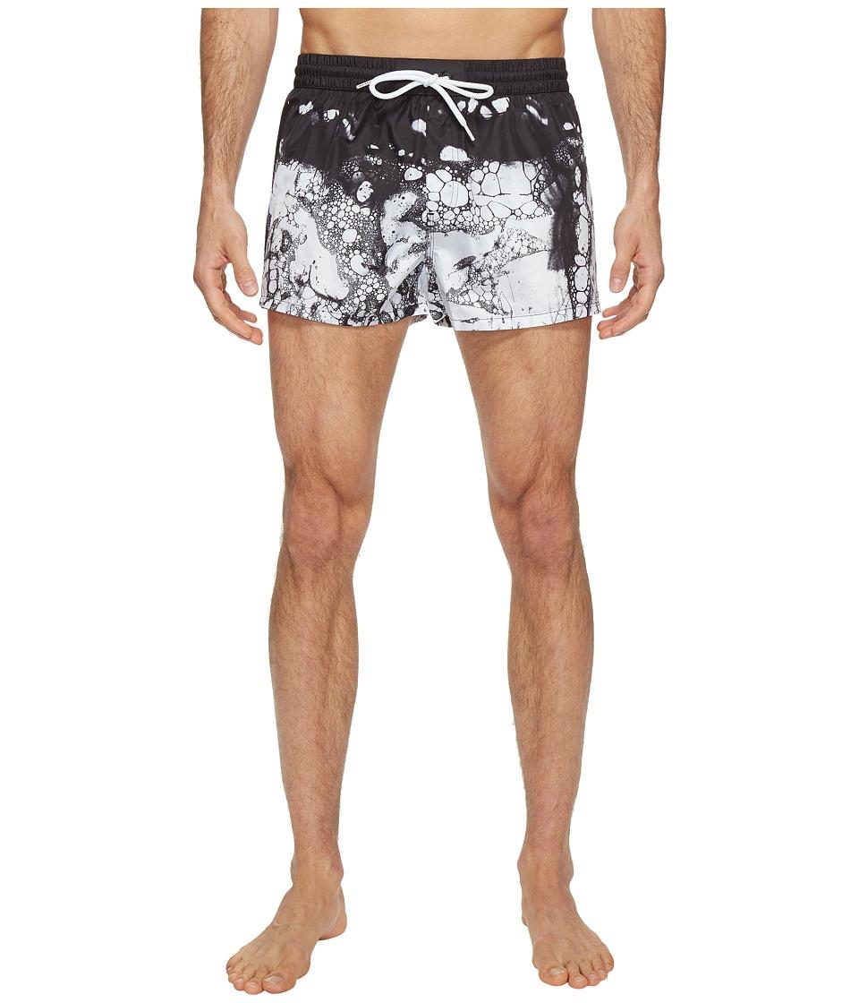 Diesel - Wave Graphic Print 2 in Swim Trunk IANP (White Pattern) Men's Swimwear