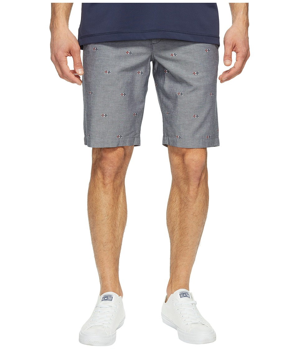 Original Penguin - 10 Argyle Printed Oxford Shorts (Dark Sapphire) Men's Shorts