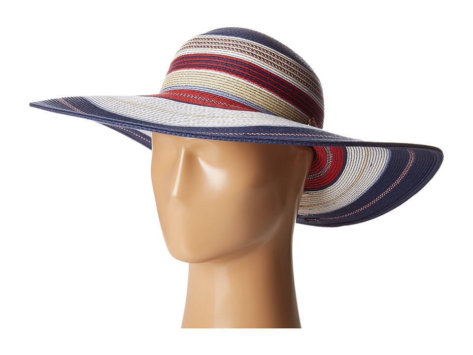 Vince Camuto - Striped Floppy (Peacoat) Caps