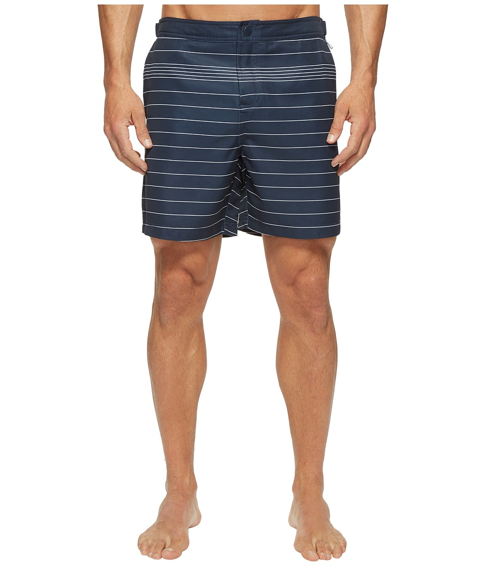 Original Penguin - Stretch Engineered Stripe (Dark Sapphire) Men's Swimwear