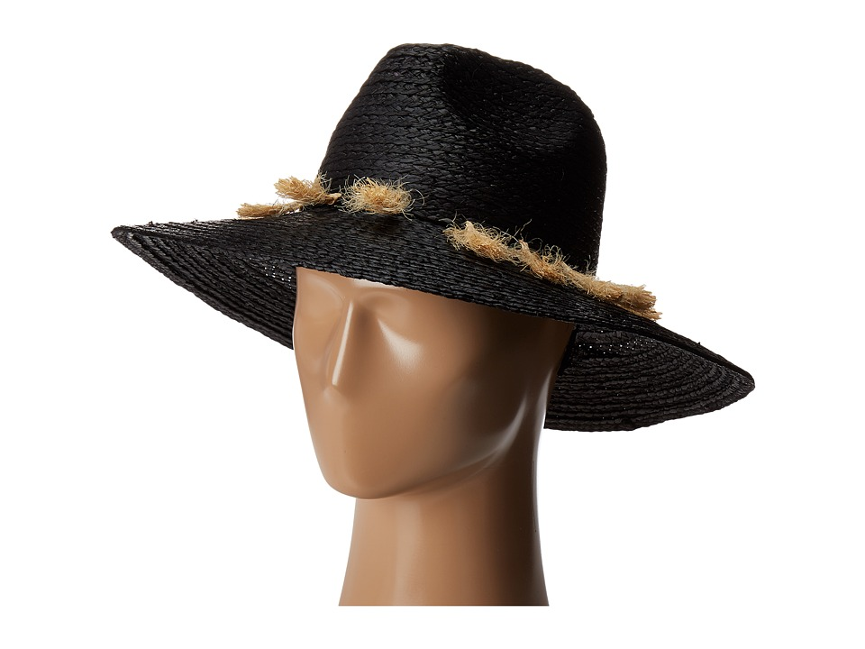 Michael Stars - Mytros Tassel Wide Brim Hat (Black) Caps