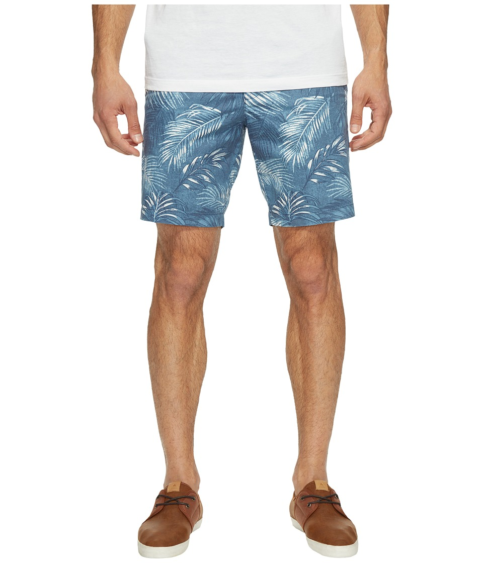 Original Penguin - P55 8 Floral Printed Shorts (Dark Denim) Men's Shorts