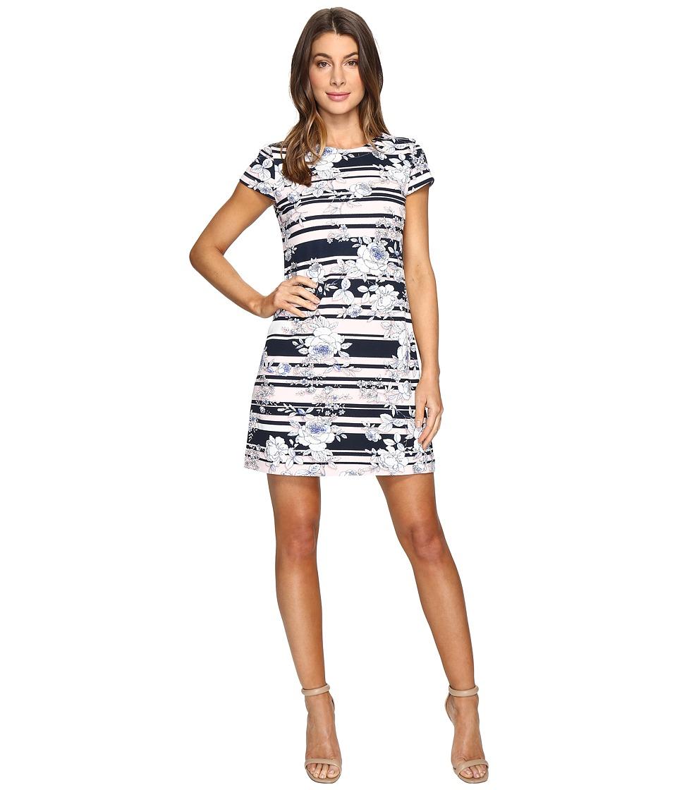 Jessica Simpson - Printed Texture Knit T-Shirt Dress (Print) Women's Dress