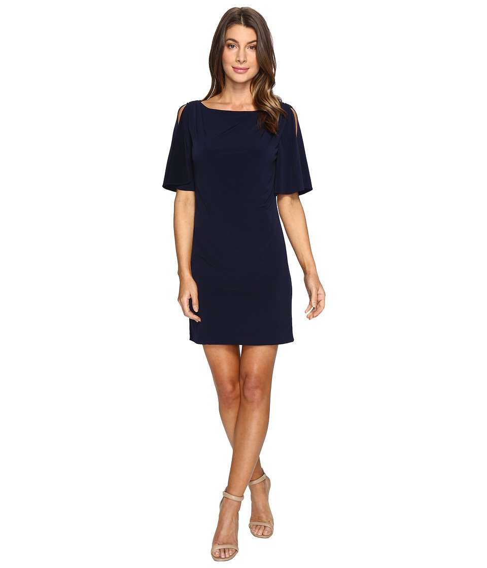 Jessica Simpson - Solid Ity Split Sleeved Dress (Navy) Women's Dress
