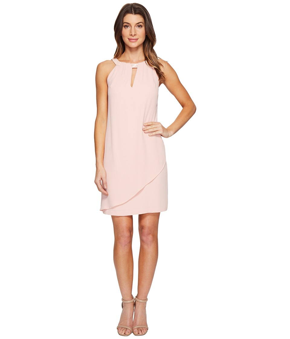Jessica Simpson - Drape Front Dress with Beaded Neck (Blush) Women's Dress